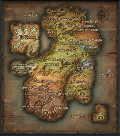 Carte du monde de Rappelz