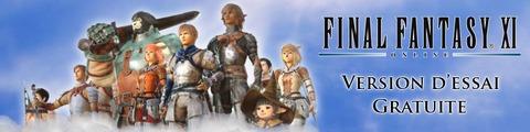 Bannière de la version d'essai de Final Fantasy XI (janvier 2012)