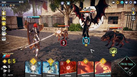 Un personnage tanky contre un boss qui annule l'armure à chaque fin de tour ... génial