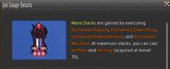 Les losanges rouges représentent le nombre de Mana Stacks actuels du joueur