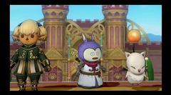 Shantotto de Final Fantasy XI et le Moogle de Final Fantasy XIVdans Dragon Quest X Online