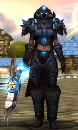 Equipement du chevalier de la mort au niveau 57