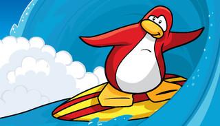 Pingouin surfer