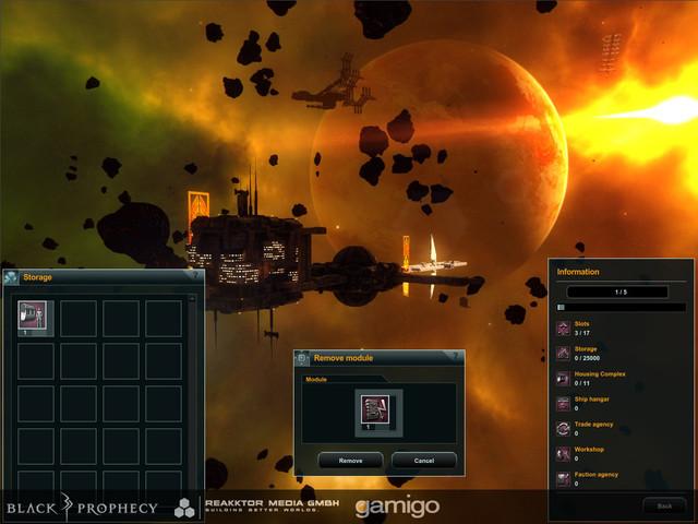 Suppression de module de station de clan