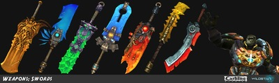 Image article Polycount sur les graphismes - WildStar Various Swords e1370298933264