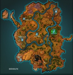 Carte de Deradune, Zone lv 6-12