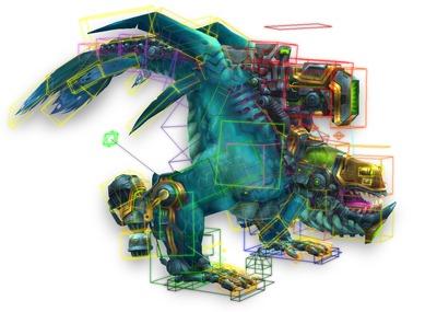 Axes du squelette et géométrie