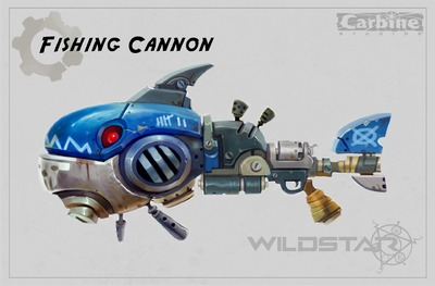 Image article Polycount sur les graphismes - WildStar fishing cannon carbine e1370299234329