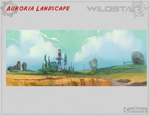 Conceptart de Auroria - Auroria Landscape