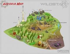 Conceptart de Auroria - Auroria Map
