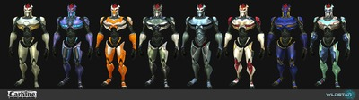 Image article Polycount sur les graphismes - WildStar Mechari Male Skin Customization01 e1370299157234