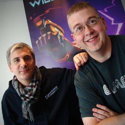 Loïc Claveau à gauche et Mike Donatelli à droite