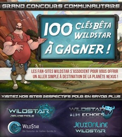 Concours Communautaire : 100 Clefs Beta WildStar à Gagner