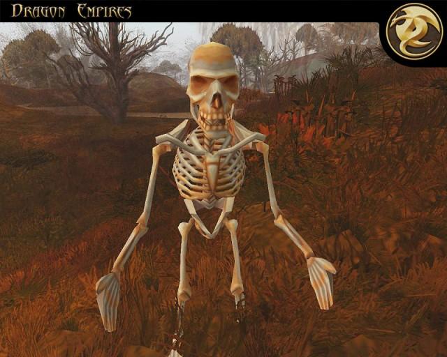 Un squelette à l'air amical...