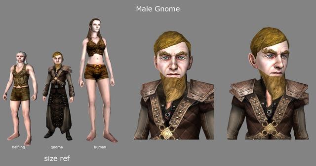 Rendu 3D de la nouvelle race des Gnomes