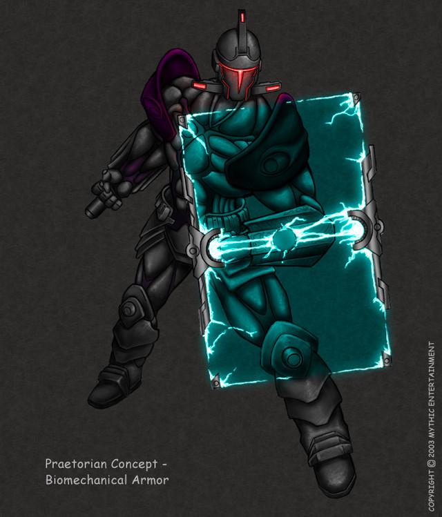 Concept Art d'un Garde Praetorian
