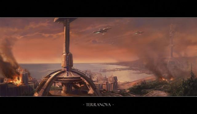 Concept Art de Terra Nova, notre lieu de départ dans l'Aventure