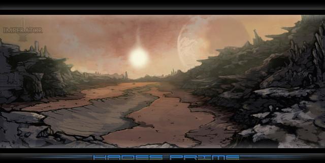 Concept Art de la planète Hades