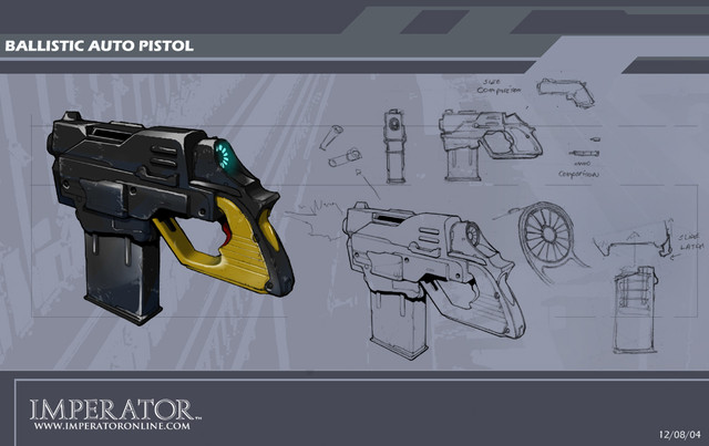 Concept Art d'une arme de point