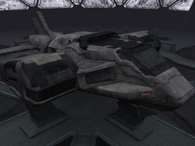 Un vaisseau, de transport ou de combat, nous l'ignorons encore...