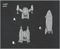 Propositions de réacteurs dorsaux.