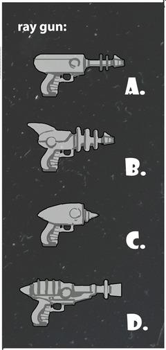 Propositions de pistolets laser.