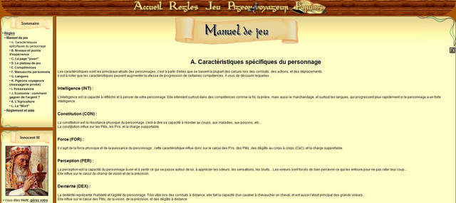 Manuel du Jeu - Explications sur le Gameplay