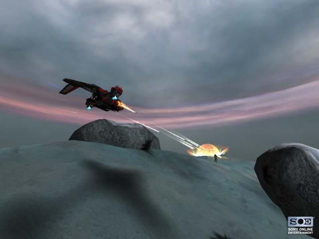 Un Reaver lançant ses roquettes