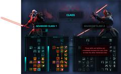 Compétences des classes avancées Sith