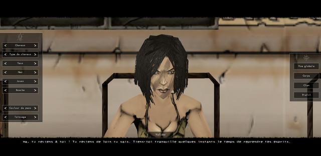 Création de personnage : femme vue de face