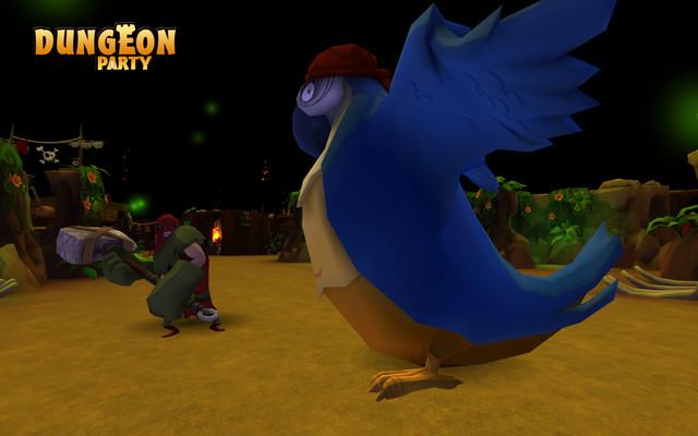 Le Boss des pirates... un Perroquet géant !