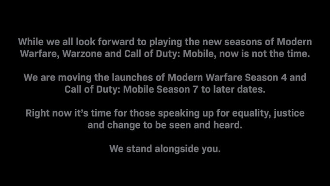Call of Duty Modern Warfare et Warzone : la saison 4 est repouss