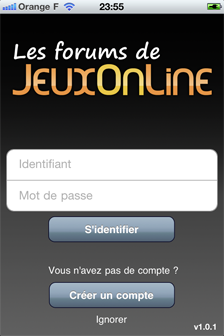 Applications mobiles pour les forums JeuxOnLine