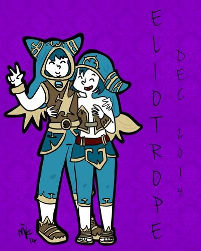 illustration des Eliotropes réalisée par Liria