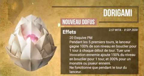 Dofus Dorigami et ses bonus