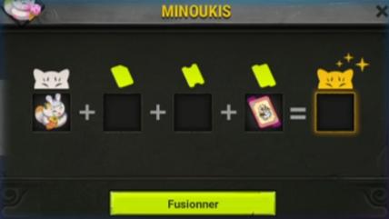 Interface de personnalisation d'un Minouki