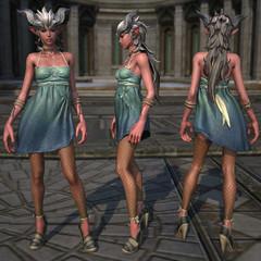 Castanic : Armure de tissu féminine