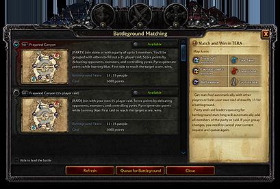 Interface des Champs de bataille