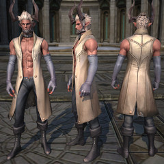Castanic : Armure de tissu masculine