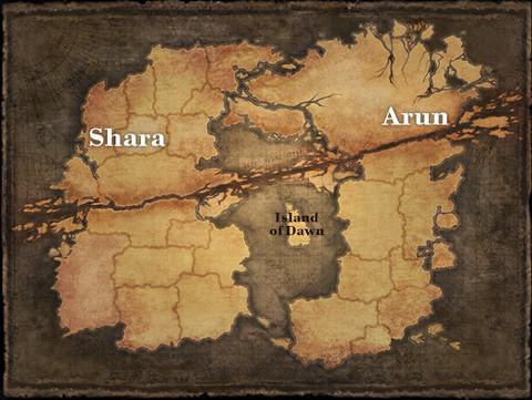 Carte du monde de Tera