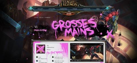Capture d'écran du site officiel