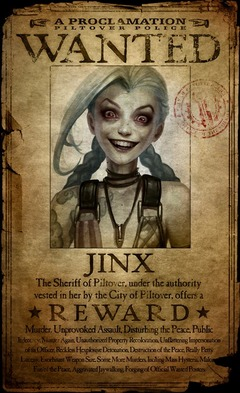 Jinx se révèle, une psychopathe dans League of Legends