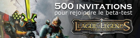 League of Legends - 500 invitations pour rejoindre le bêta-test fermé !