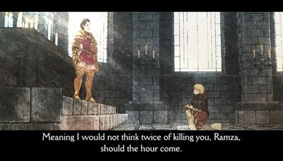 La version PSP de Final Fantasy Tactics : The War of the Lions donne une idée en mouvement du style de Akihiko Yoshida. Ce n'est hélas qu'une cinématique.