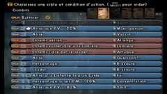 Le menu des gambits de Final Fantasy XII
