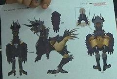 "Chocobo avec armure ""Behemoth"""