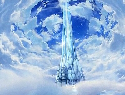 La tour de cristal dans l'intro de Final Fantasy III