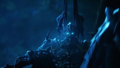 Odin dans la cinématique d'introduction de Final Fantasy XIV, image faisant office de cadeau aux lecteurs de la lettre du producteur
