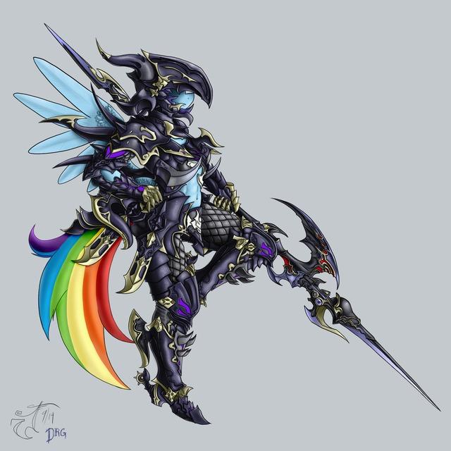 Dragoon Rainbow Dash par Melancholy